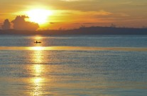 Sunrise in Dumaguete port