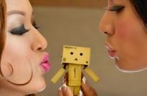 Danbo meets Gwen Garci & Rachel Lobangco