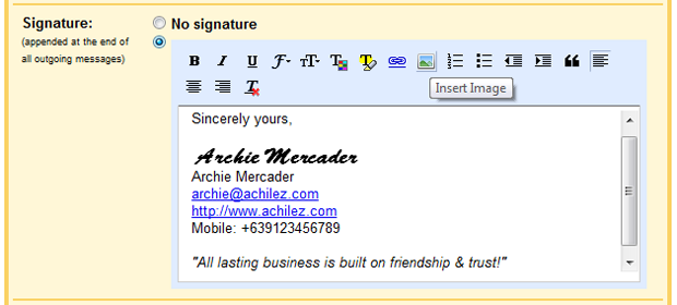 Creating an HTML Signature in your Gmail or Google Apps | An ...