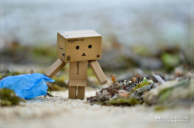 achilez-blog-danbo-ajax-danboard-365-faces-danbo-cleaning-someones-mess-in-the-sea-seashore-650